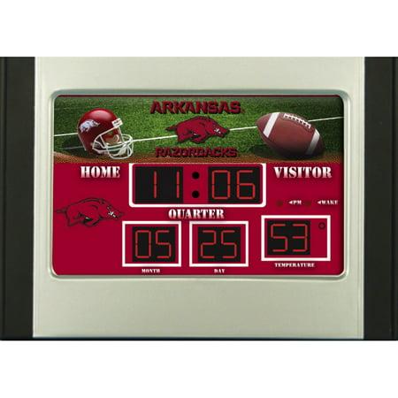 Arkansas Razorbacks 6.5'' x 9'' Scoreboard Desk Clock - No - Ncaa Scoreboard Desk Clock