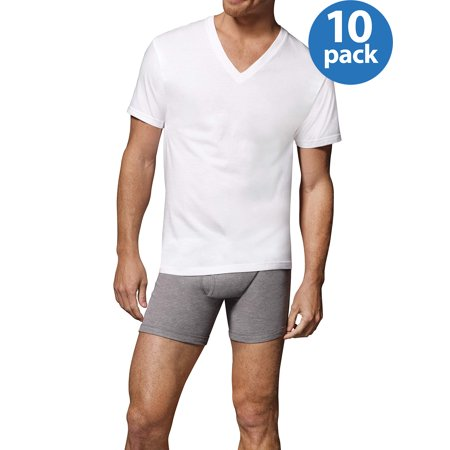 Men's ComfortSoft Tagless V-Neck Undershirt, - Stretch Undershirt