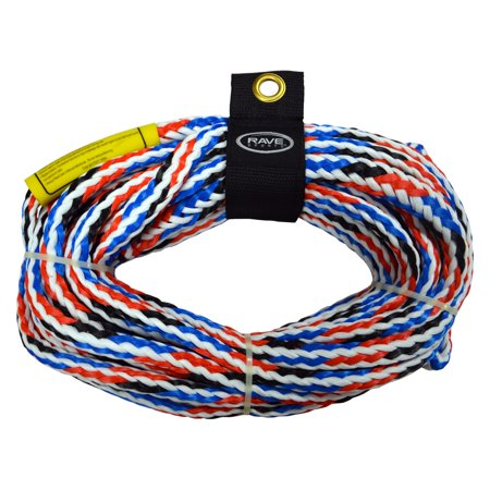 Rave Sport Ski and Tow Rope 1 Section 4 Rider Tow Rope, Red](Vip Red Rope)