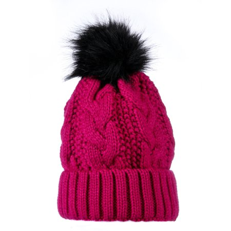 Yacht Smith - Yacht Smith Womens Pom Pom Beanie Hat 12f3176fed