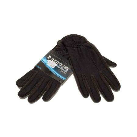 Isotoner Lightweight Gloves - Isotoner Mens Gloves Black Smart Touch Size L/G
