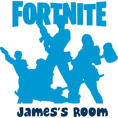 Fortnite Video Game Characters Customized Wall Decal - Custom Vinyl Wall Art - Personalized Name - Baby Girls Boys Kids Bedroom Wall Decal Room Decor Wall Stickers Decoration Size (40x40 inch) Wall Stickers Kids Room