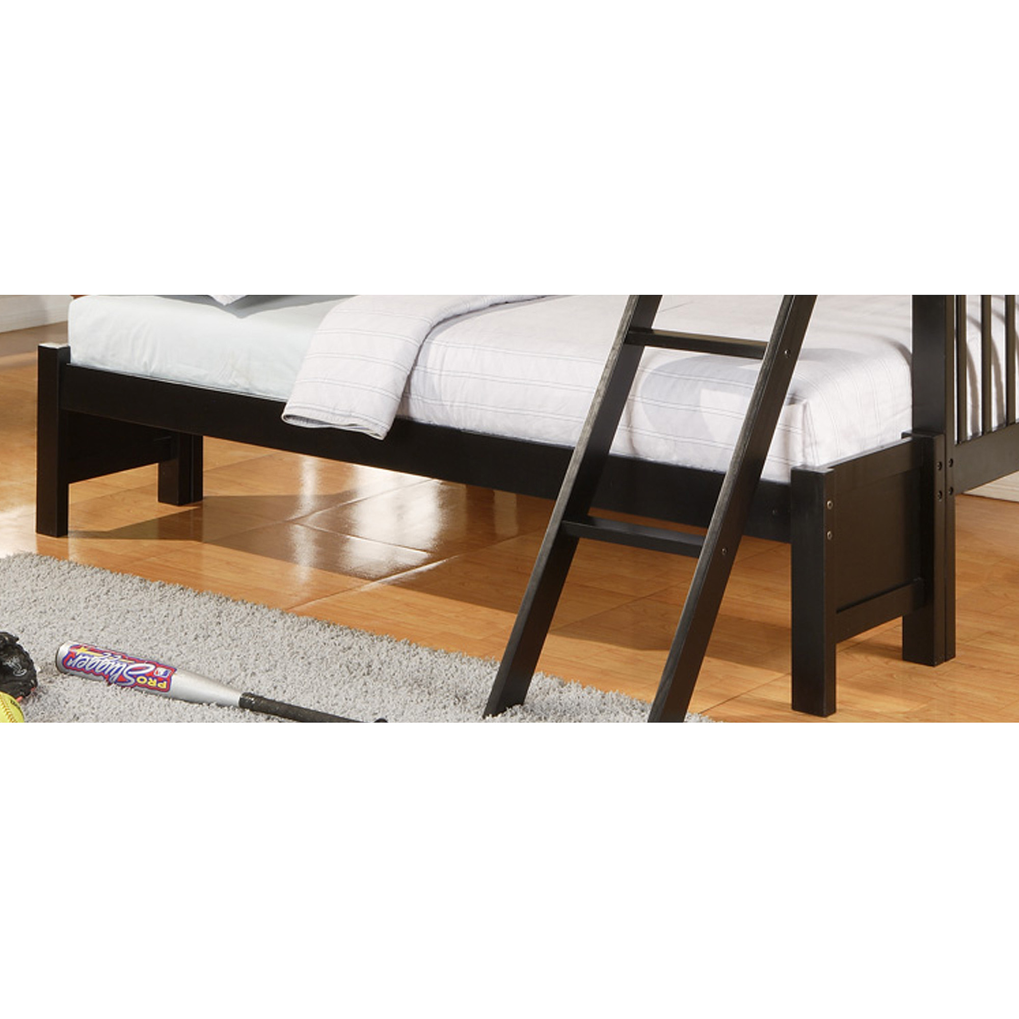 Elise Conversion Kit for Twin Over Full Bunk Bed, Black