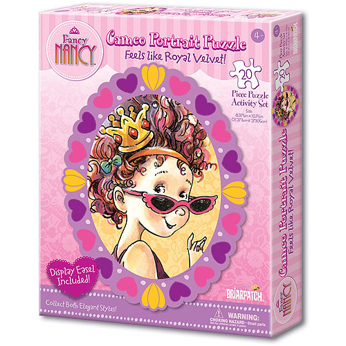 Fancy Nancy, Feels like Royal Velvet! Cameo Portrait Puzzle Activity Set, Sunglasses, 20 Pieces