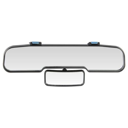 Rear View Mirror with Center Adjustable Mirror Universal Fit Mount to existing