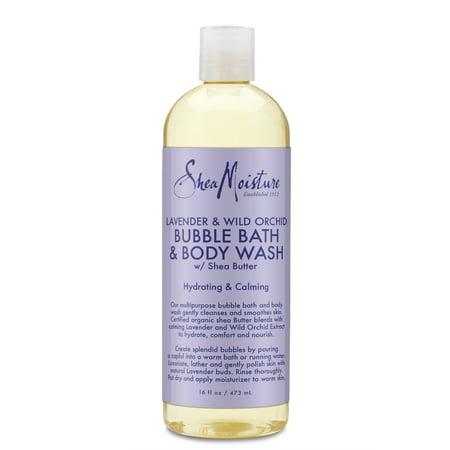 Shea Moisture Lavender & Wild Orchid Bubble Bath & Body Wash, 16 -
