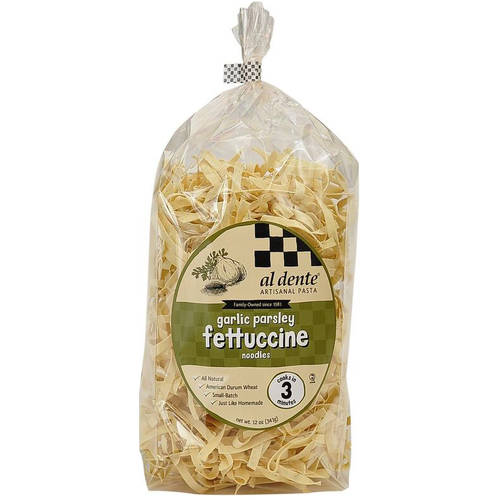 Image of Al Dente Garlic Parsley Fettuccine Pasta, 12 oz (Pack of 6)