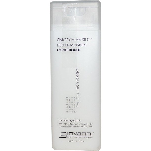 Giovanni Smooth As Silk Deeper Moisture Conditioner, Soothing, for Dry, Damaged Hair, Sulfate Free, No Parabens, 8.5 fl oz