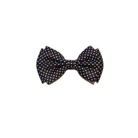 Bow Tie 4.4 inches Small White Polka Dots Bow Tie Jumbo Polka Dot