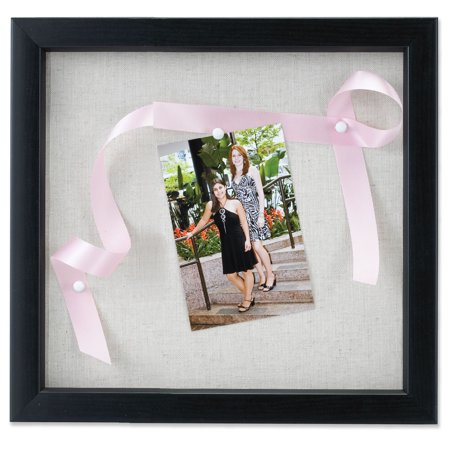 12x12 Black Shadow Box Frame - Linen Inner Display Board