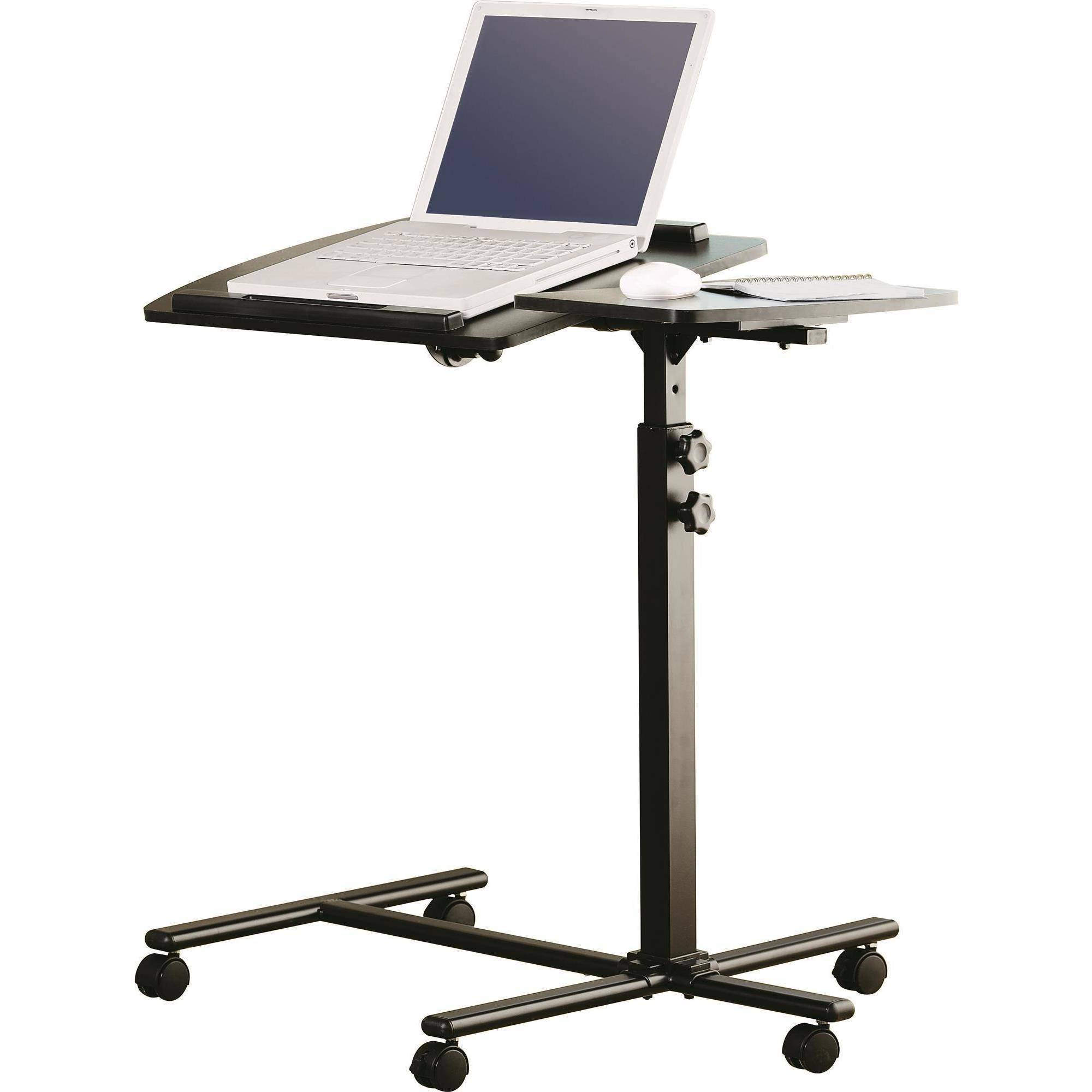 notebook desk stand itm portable laptop glass tray home computer furniture lap table