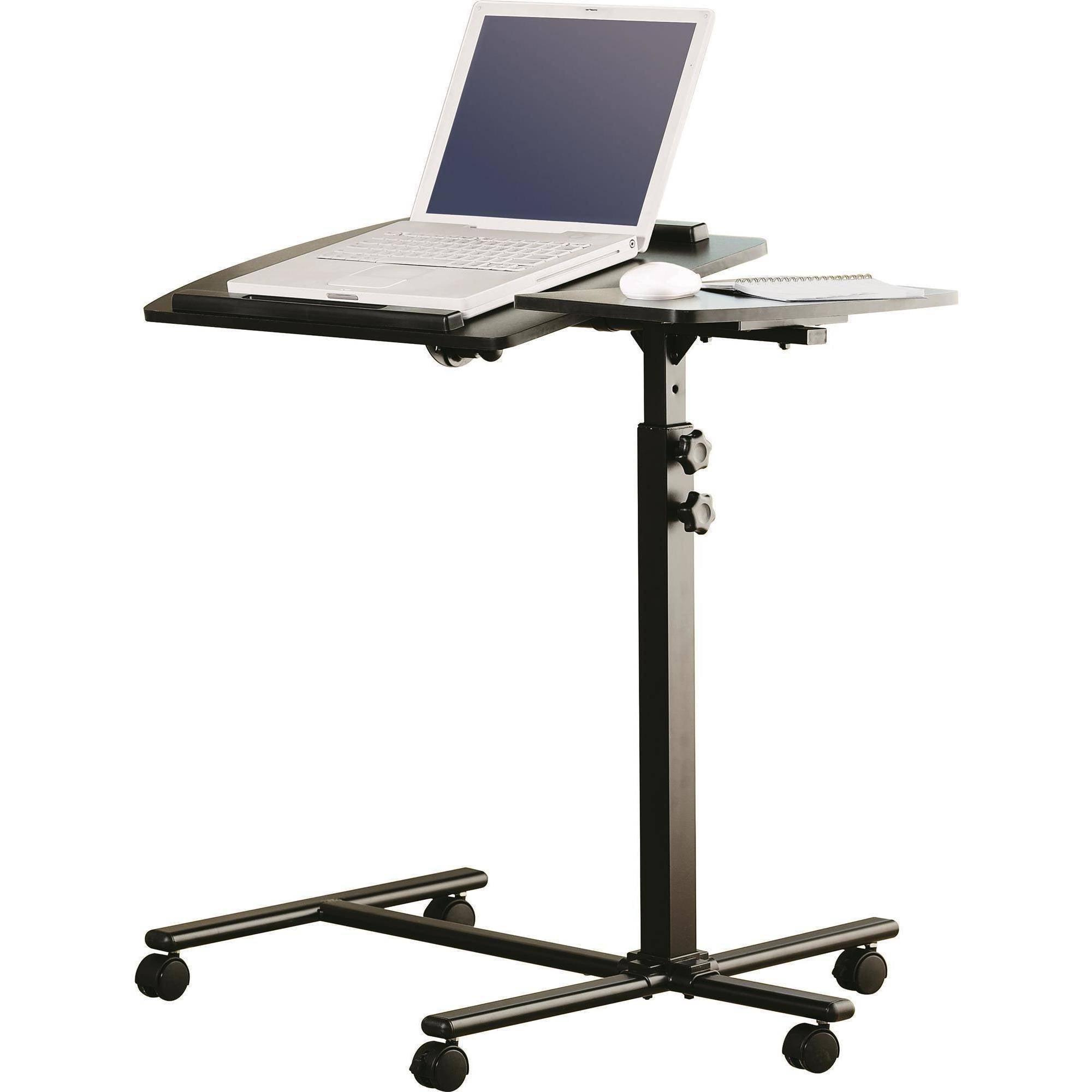 Mainstays Deluxe Laptop Cart Black Walmart Com