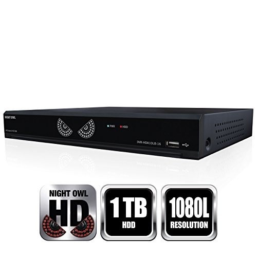 Night Owl 16 Channel 1080 Lite Hd Analog Video Security System With 1 Tb Hdd - Digital Video Recorder - 1 Tb Hard Drive - 30 Fps - Composite Video In - 4 Audio In - 1 Audio Out - 1 (hda10l-dvr16-1tb)