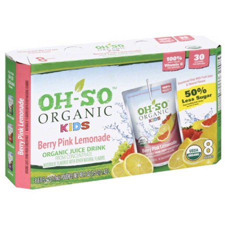 Oh-So Organic Kids Berry Pink Lemonade Juice Drink, 48 fl oz, (Pack of 5)