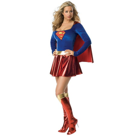 Supergirl One Piece Adult - Supergirl Makeup