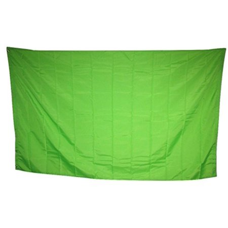 3x5 Advertising Solid Neon Green Rough Tex Knitted Flag 3'x5' Colored Header Banner Brass Grommets House Banner Brass Grommets Fade Resistant Double Stitched.., By - Neon Banner