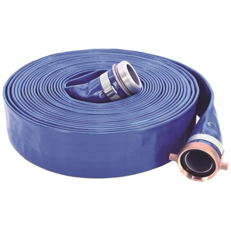 ABBOTT RUBBER 1147-4000-50-CE Pump Discharge Hose, 4 in x 50 ft, Cam Lock Quick-Connect Male x Female Coupling, -