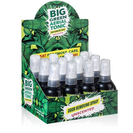 Big Green Smoke Odor Eliminator Spray Unscented | Removes Smell from Cars, Bathrooms, Homes 2oz (Case of (Removal Of Cigarette Smoke Smell From Car)