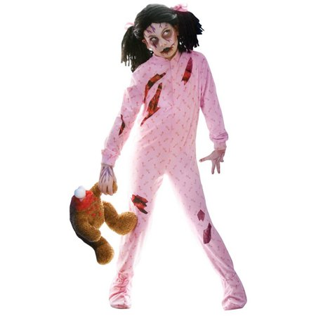 Zombie Girl Child Halloween Costume, Medium - Zombie Apocalypse Survivor Halloween Costume