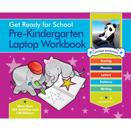 Get Ready for School Pre-Kindergarten Laptop Workbook : Uppercase Letters, Tracing, Beginning Sounds, Writing, Patterns - Halloween Trace Patterns