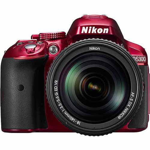 Nikon Red D5300 DSLR Camera with 24.2 Megapixels, Body Only