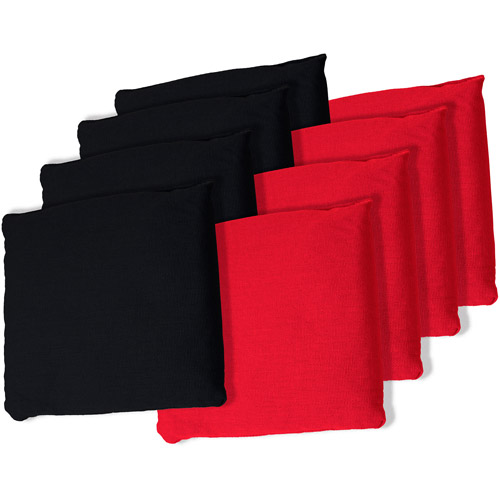 Black and Red Championship Cornhole Bean Bags, Set of 8 - Walmart.com