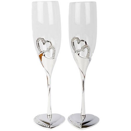 Wedding Party Toasting Flute - Unik Occasions Stunning Wedding Toasting Flutes
