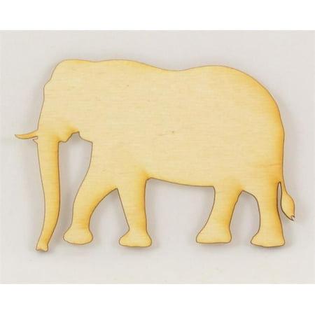Package Of 10, Elephant Wood Cutout 4