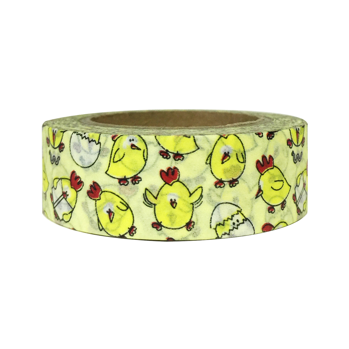 Wrapables® Colorful Patterns Washi Masking Tape, Chicken and Egg