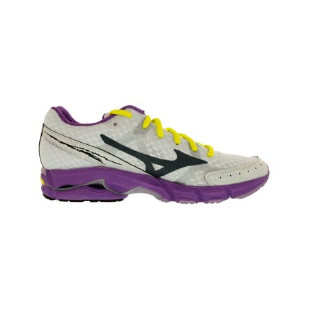 low cost 889e8 2cfd3 Mizuno Women's Wave Rider 17 Red / Yellow Dark Grey Ankle-High Running Shoe  - 9.5M