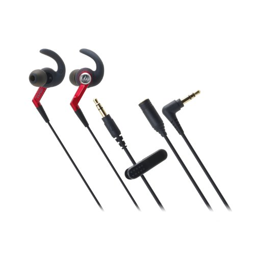 Audio Technica SonicSport In-Ear Headphones, ATH-CKP500RD (Assorted Colors)