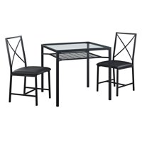 Deals on Mainstays 3-Piece Metal & Glass Dinette