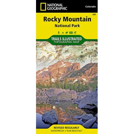 National geographic maps: trails illustrated: rocky mountain national park - folded map: