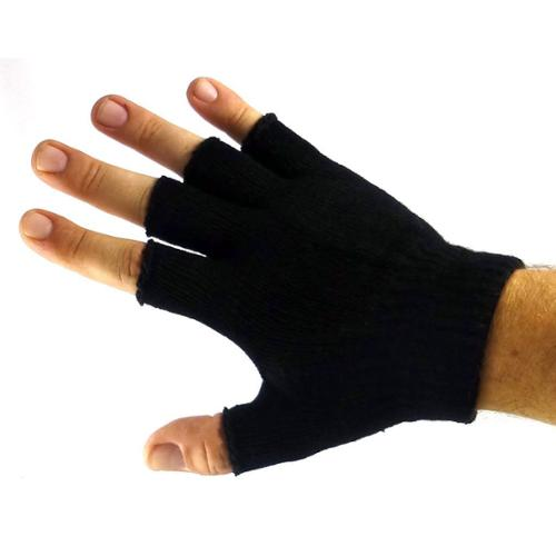 Plain Unisex Fingerless Gloves