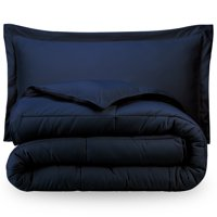 Bare Home Ultra-Soft Premium 1800 Series Goose Down Alternative Comforter Set - Hypoallergenic - All Season - Plush Fiberfill, Twin Extra Long (Twin/Twin XL - Dark Blue)