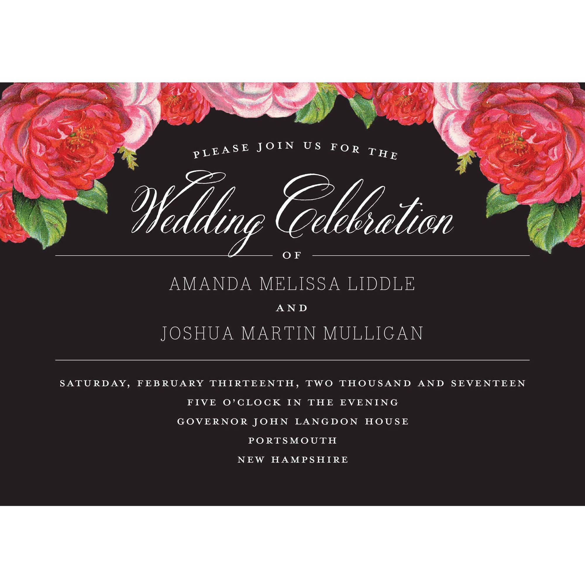 Vintage Blooms Standard Wedding Invitation