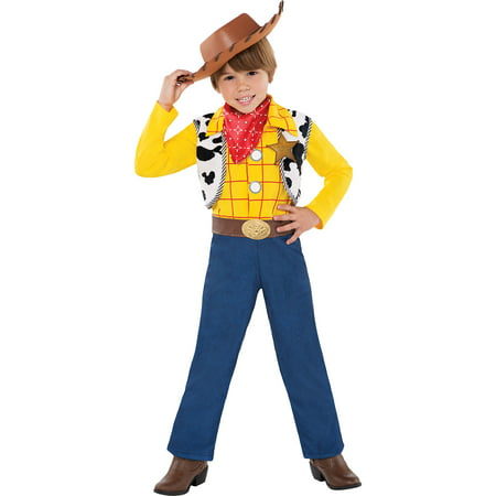 Toy Story Woody Costume for Toddler Boys, Size 2T, Includes a Jumpsuit and Hat - 2t Woody Halloween Costume