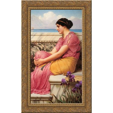 Absence Makes the Heart Grow Fonder 17x24 Gold Ornate Wood Framed Canvas Art by Godward, John