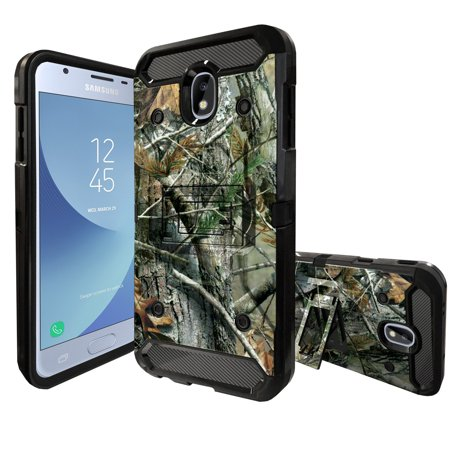 MINITURTLE Case Compatible with Samsung Galaxy J3 Achieve / J3V 2018 / Express Prime 3 / Amp Prime 3 2018 / Sol 3 [Kickstand & Bonus Rotating Belt-Clip] [3-Part Protection] - Hunter Camo](Mini Turtles)