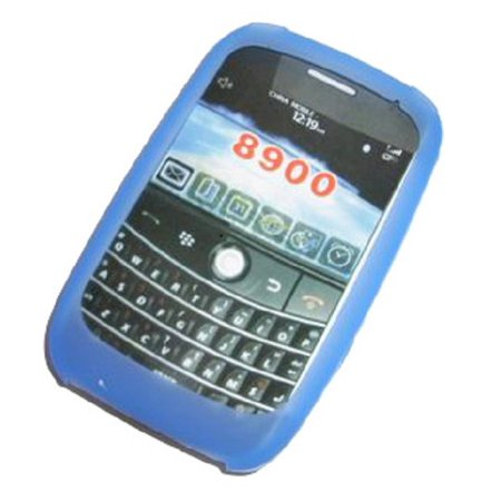 Premium Blue Silicone Soft Rubber Skin Cover Case for T-Mobile RIM Blackberry 8900 Curve / Javelin [Bulk Packaging]