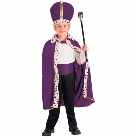 Purple King Robe and Crown Child Halloween Costume