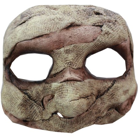 Mummy Latex Half Mask Adult Halloween Accessory - Mummy Halloween Face