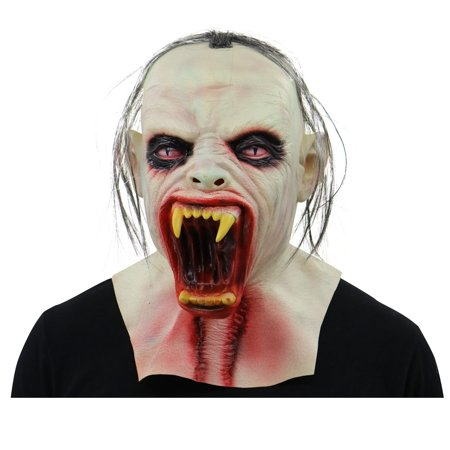 Scary Zombie Latex Mask With Hair Cosplay Helmet 2019 HOTSALES Halloween Costume (Halloween And Scary Attractions Show)