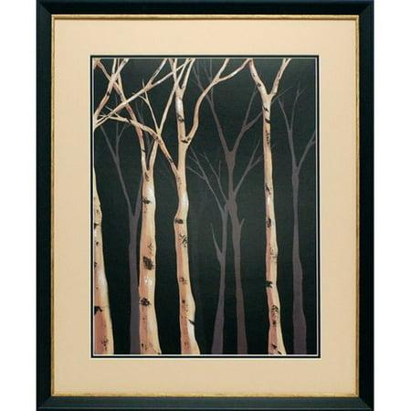 North American Art Midnight Birches Ii By Jade Reynolds Framed Graphic Art