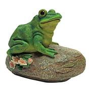 Design Toscano Thurston, the Frog, Garden Rock Sitting Toad Statue