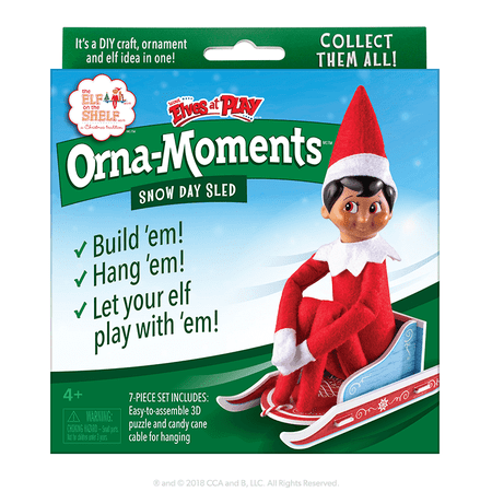 The Elf on the Shelf Elves at Play - Orna-Moments Snow Day Sled