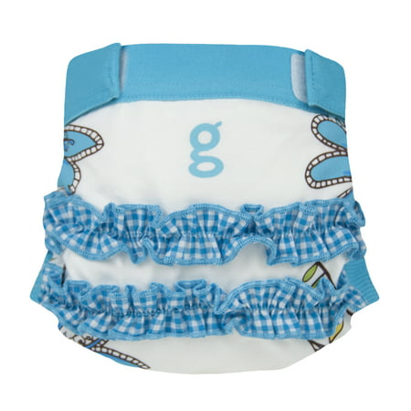 gDiapers Girly Twirly Blue gPants ()