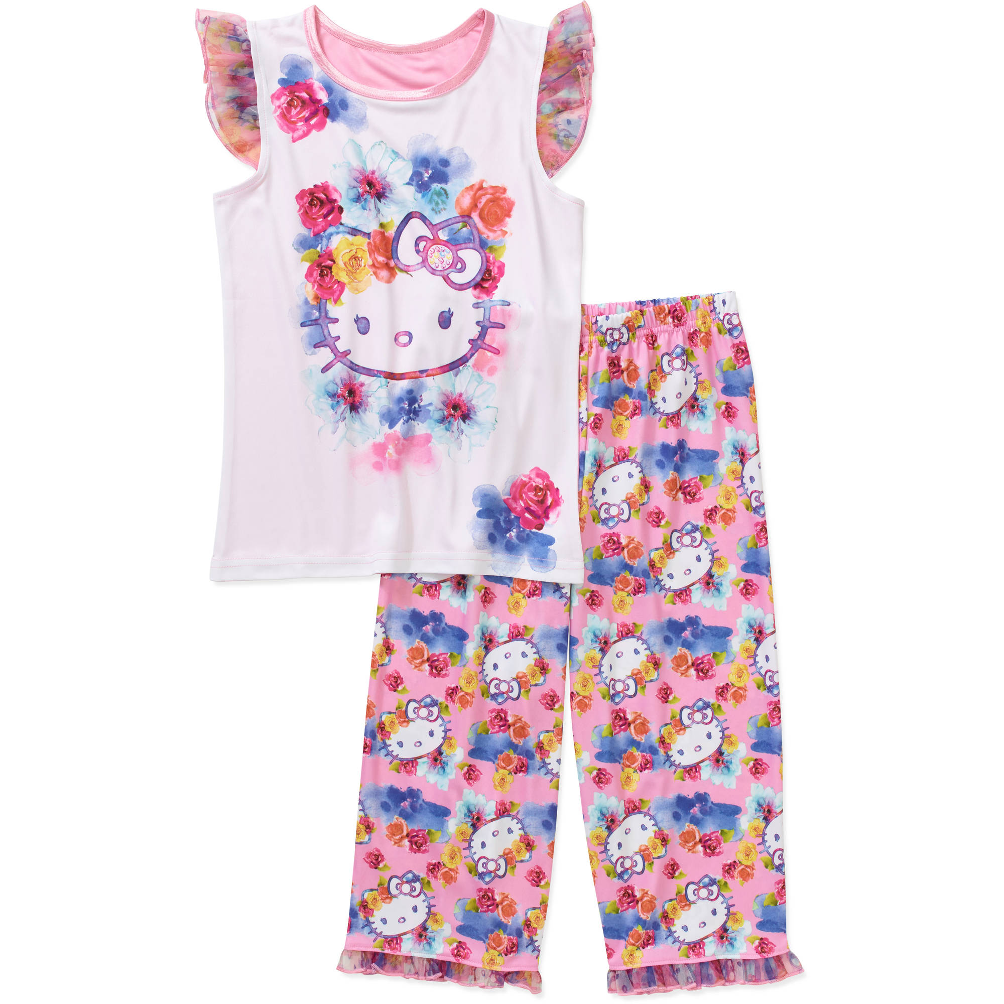 Girls' License Short Sleeve Pajama Top & Sleep Pant Set