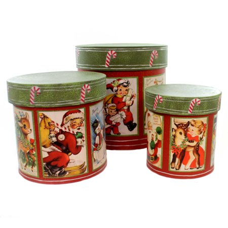 - Christmas RETRO CHRISTMAS NESTING BOXES Paper Vintage Look Tp5283