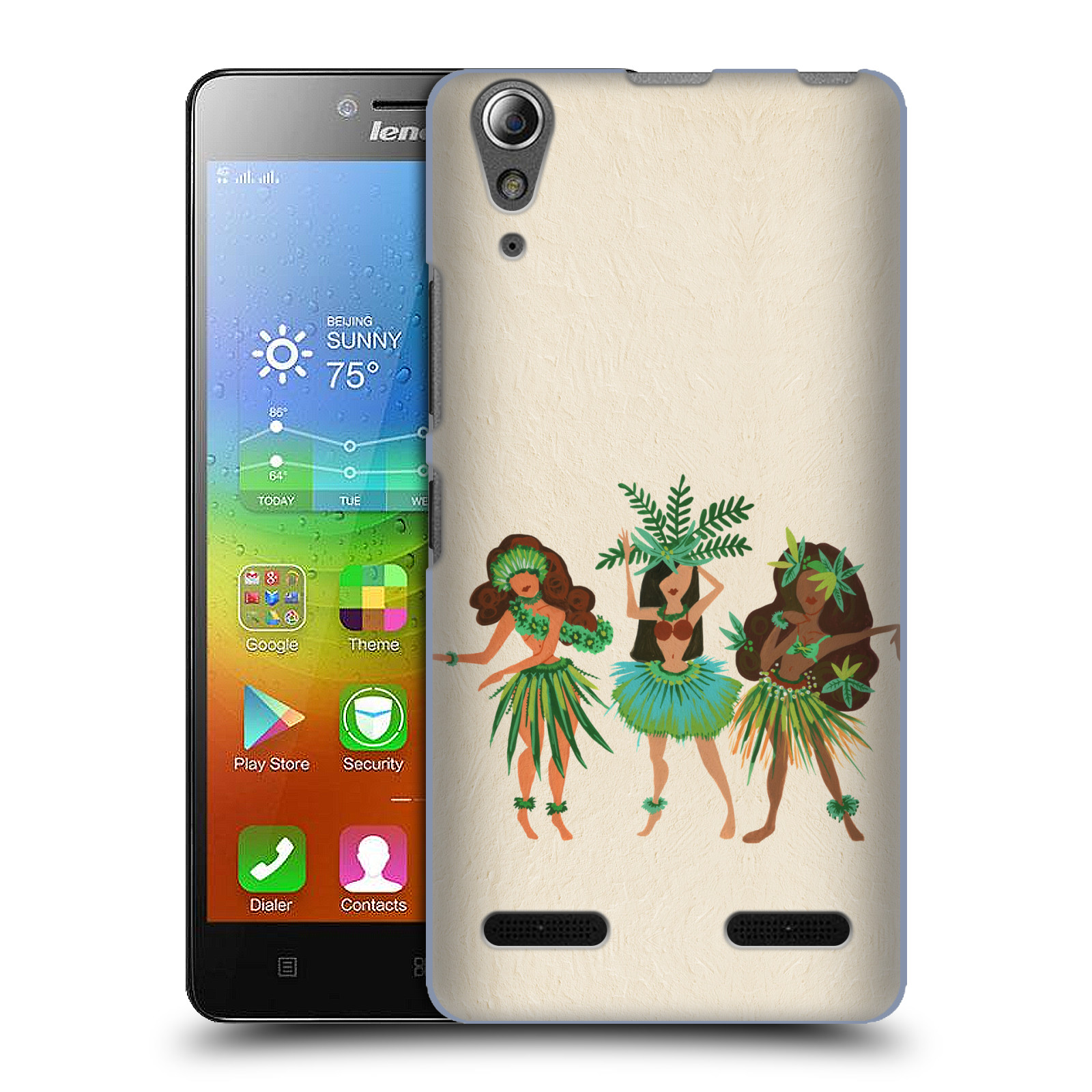 OFFICIAL CAT COQUILLETTE WATERCOLOUR HARD BACK CASE FOR LENOVO PHONES